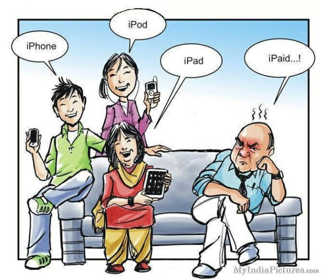 iPhone-iPad-iPod-iPaid-Funny-Family-Cartoon-Jokes