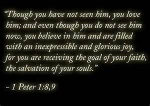1 peter 1 8-9