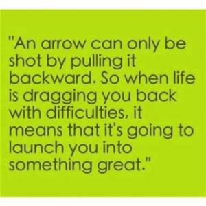 positive arrow