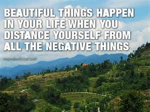 away from negativity