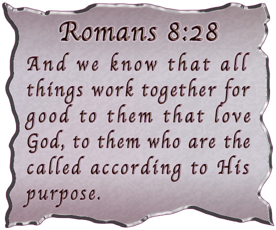 And we know that in all things God works for the good of those who ___
