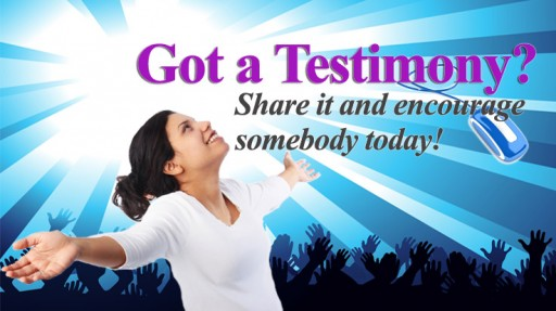New Page: What's your testimony?