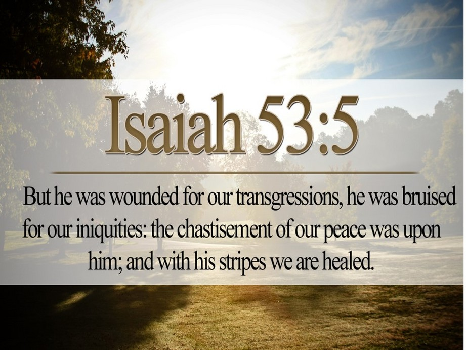 bible scriptures about healing
